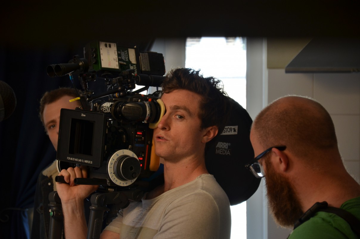 Day 18 - DoP Carl Burke keeping an eye out