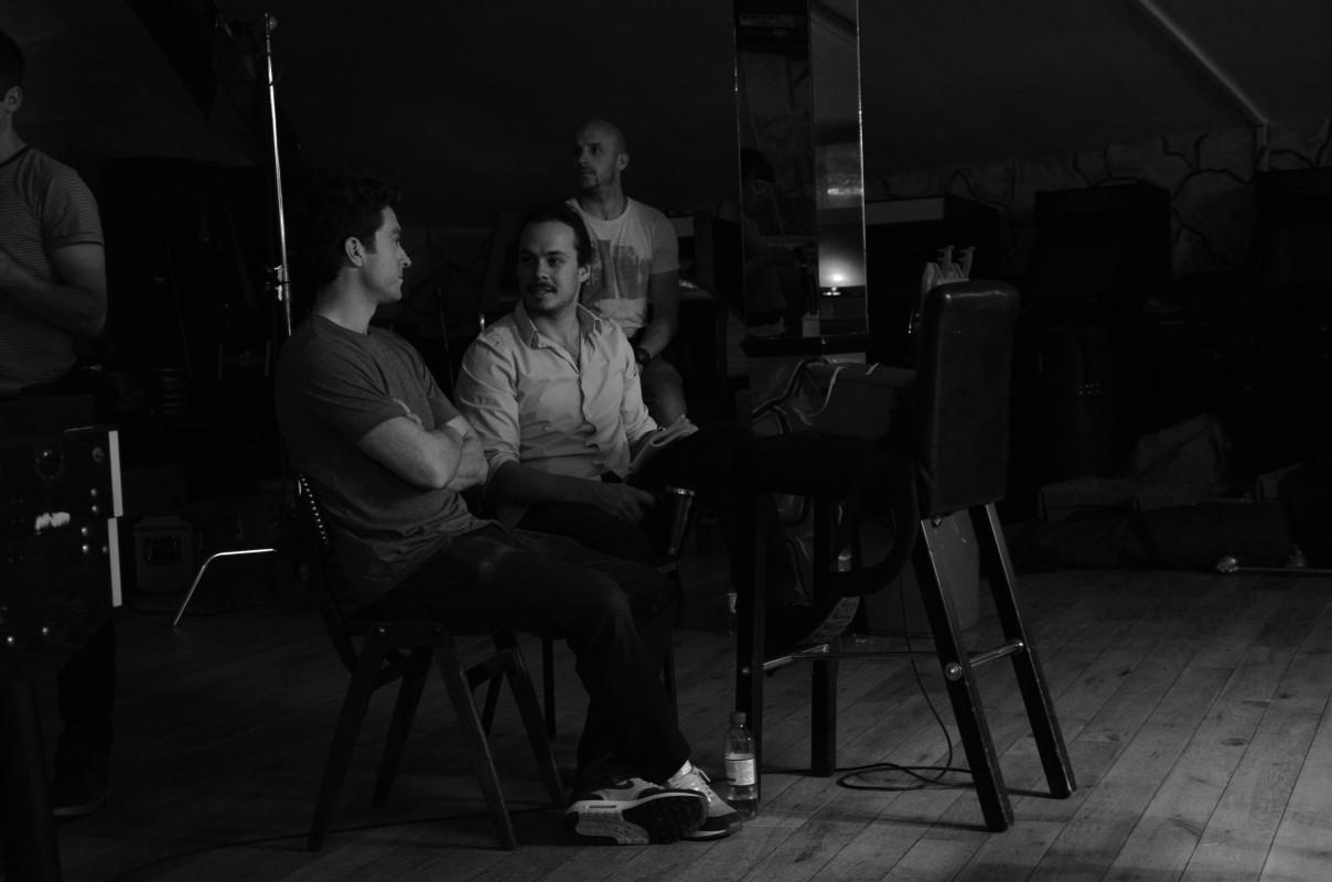 DoP Carl Burke, Director Oliver Nias and gaffer Greg Whitbrook
